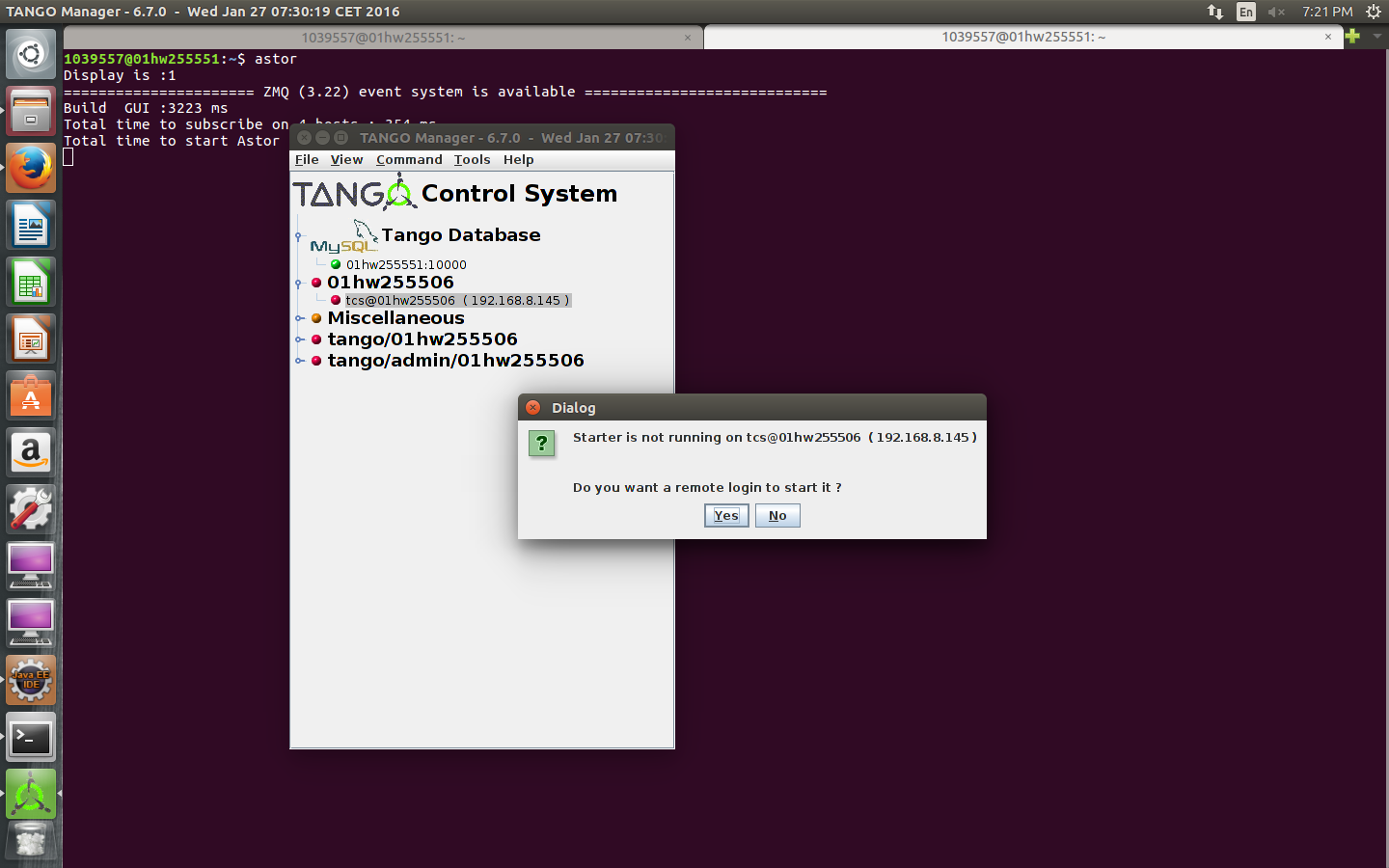 Astor : Remote Host Connection Failed - TANGO Controls