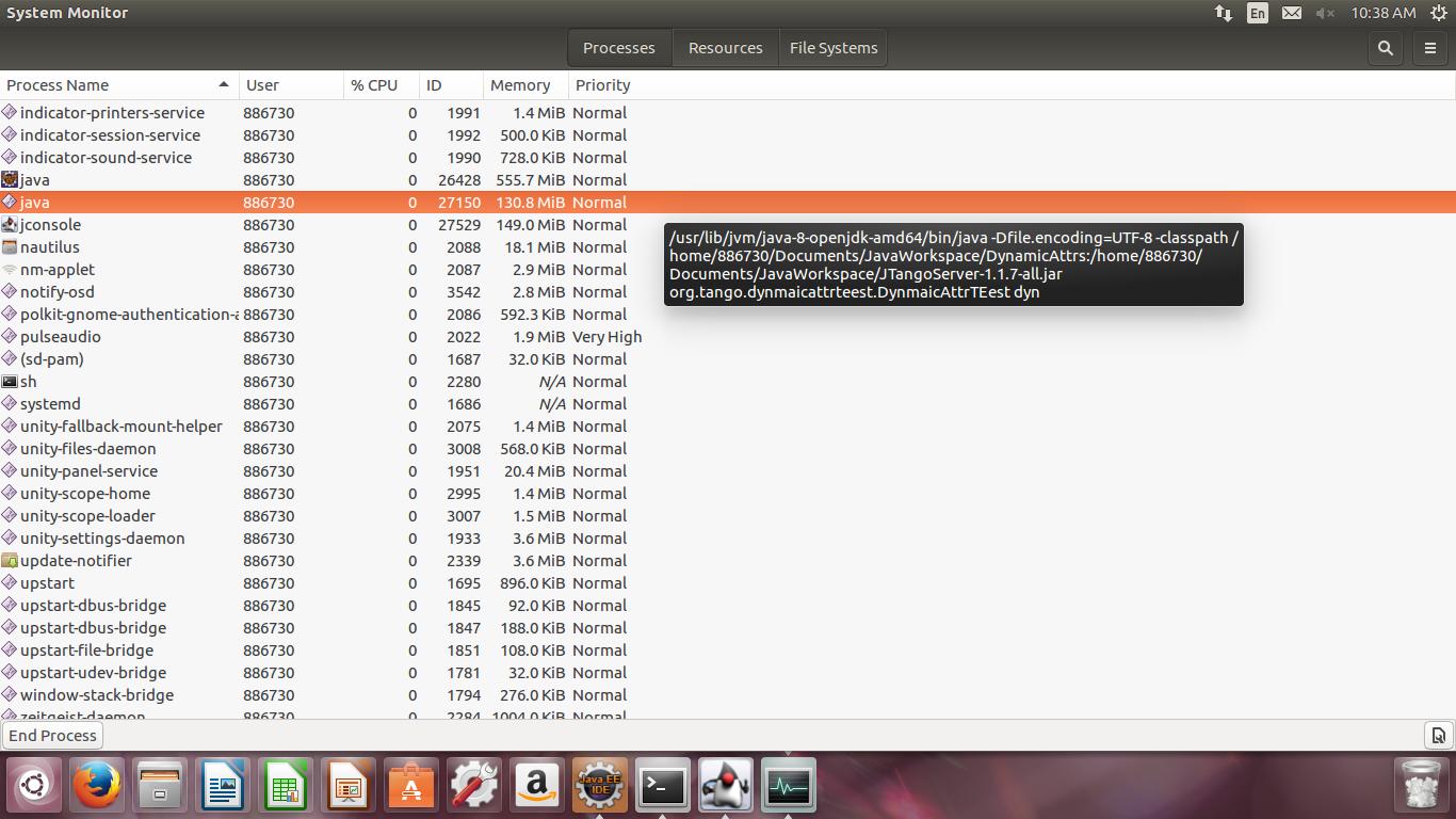 Memory analysis of continuously running tango generated java program